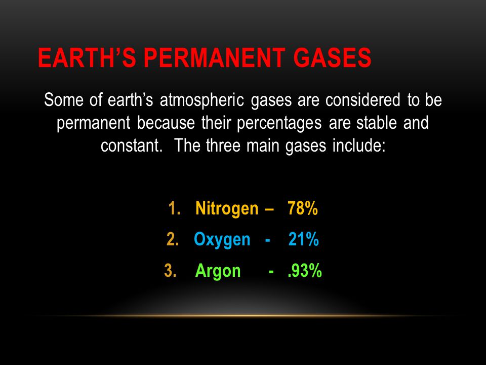 Earth's Permanent Gases