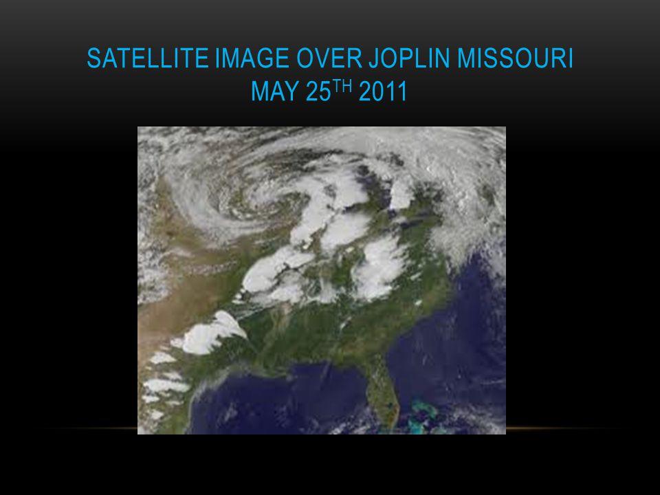 Satellite image over Joplin Missouri May 25th 2011