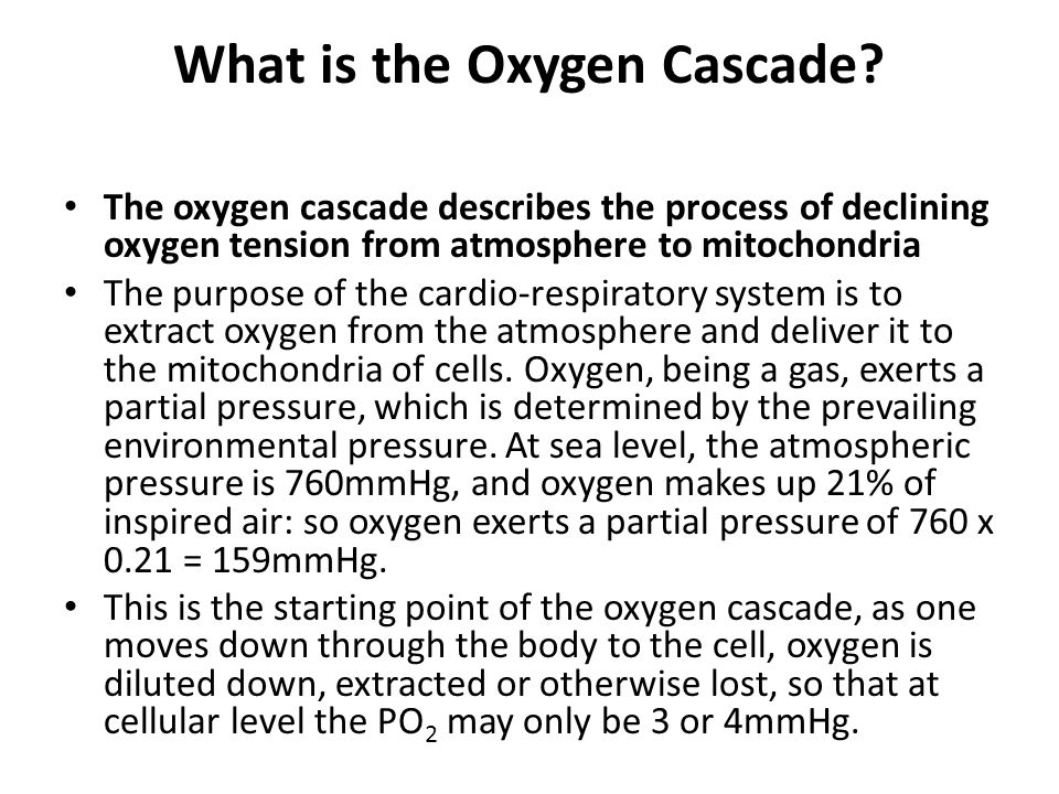 What is the Oxygen Cascade