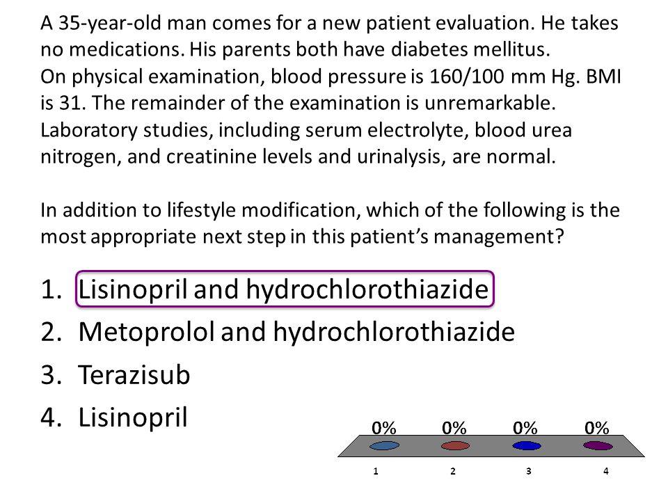 Lisinopril and hydrochlorothiazide Metoprolol and hydrochlorothiazide
