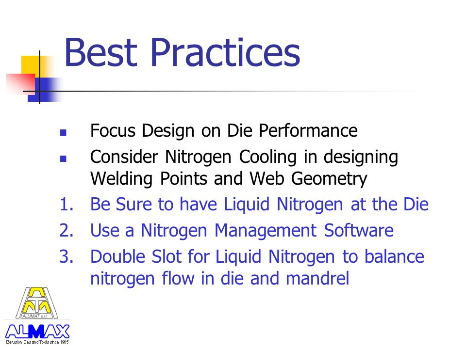 Best Practices Focus Design on Die Performance