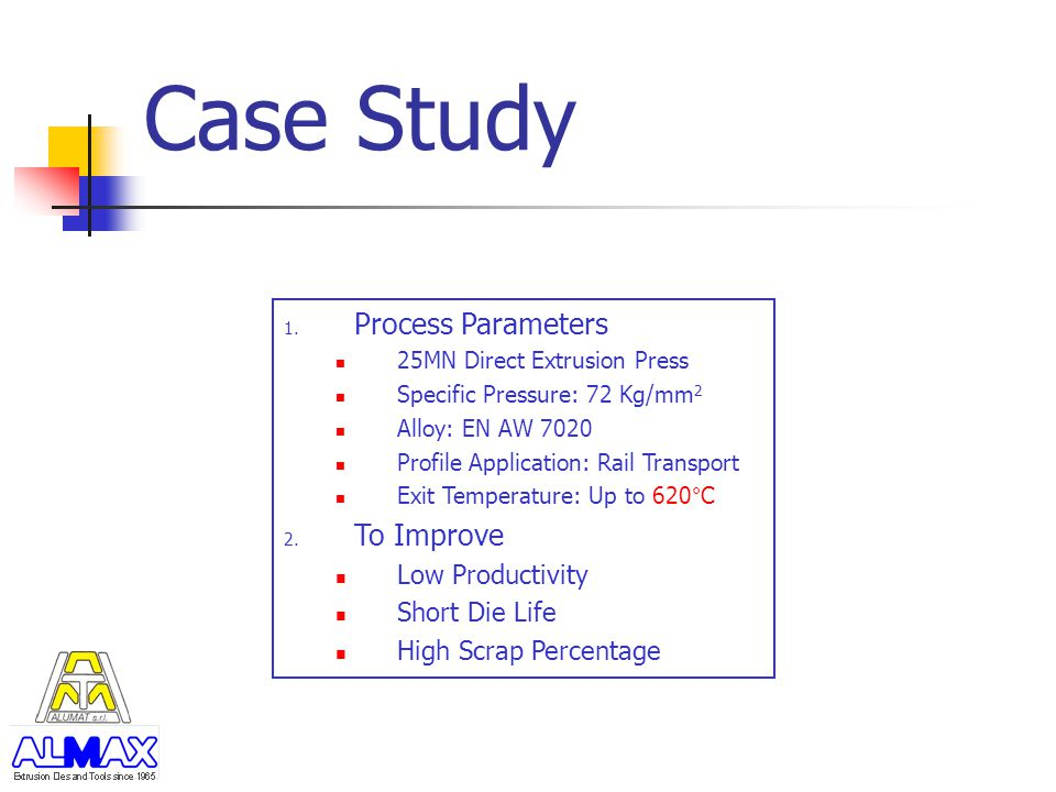 Case Study Process Parameters To Improve Low Productivity