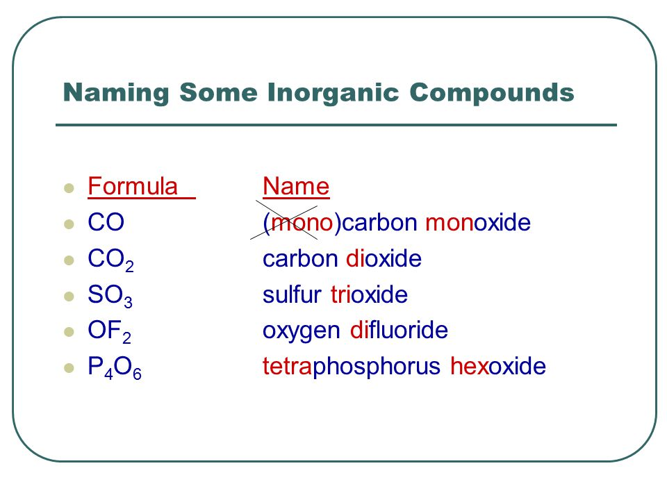 List of inorganic compounds