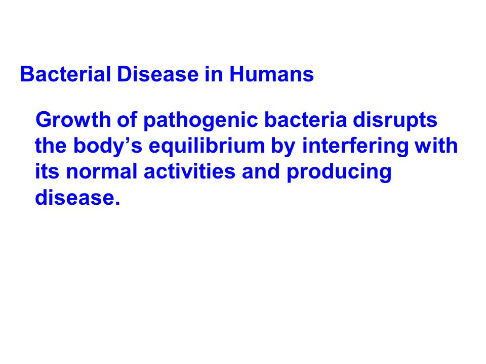 Bacterial Disease in Humans