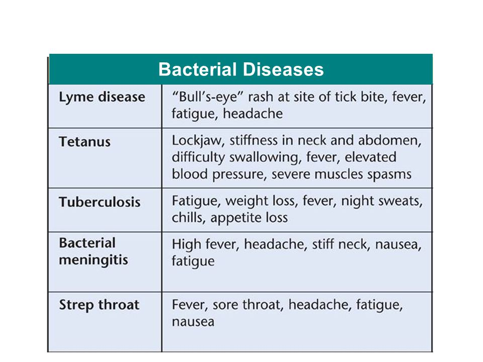 Bacterial Diseases Bacteria cause disease in the body.