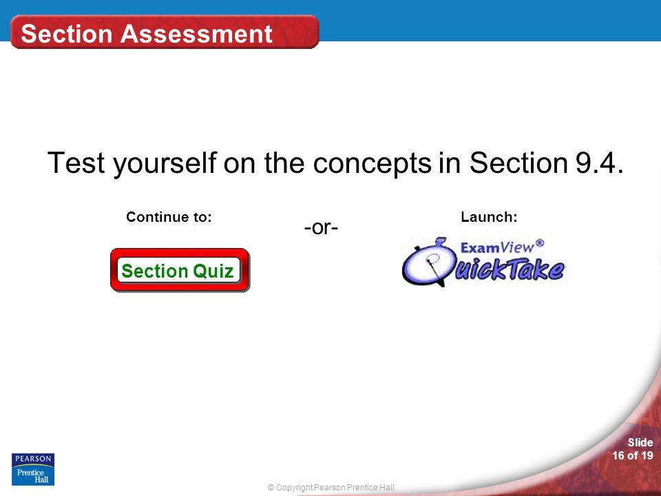 Test yourself on the concepts in Section 9.4.