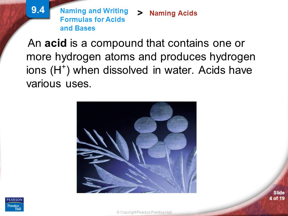 9.4 Naming Acids.