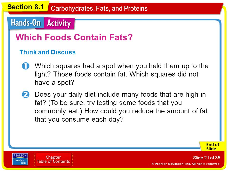 Which Foods Contain Fats