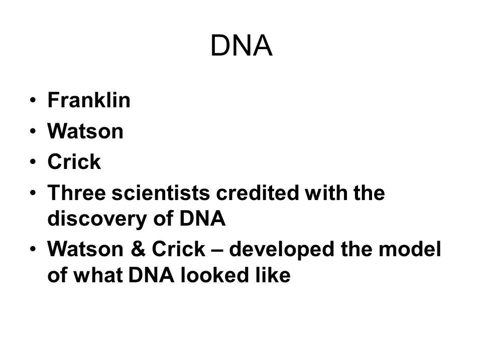 DNA Franklin Watson Crick