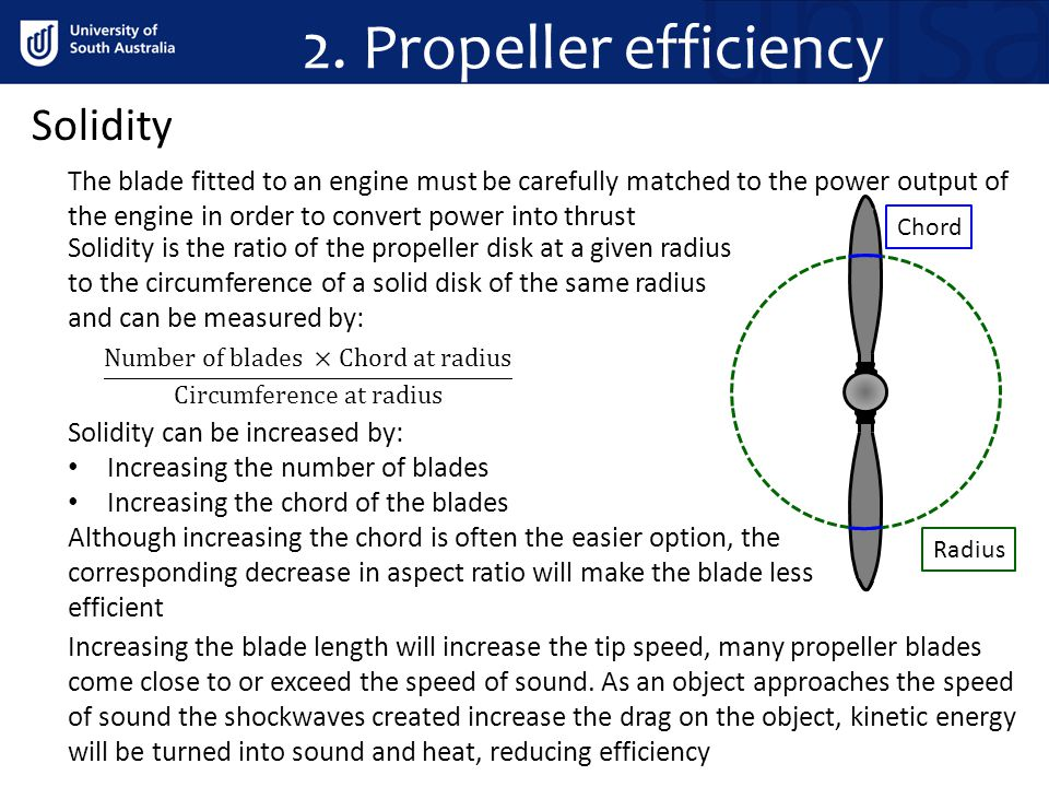 2. Propeller efficiency Solidity