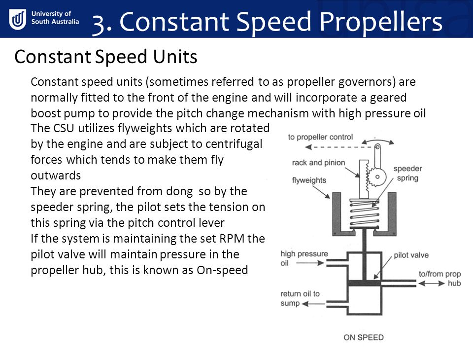 3. Constant Speed Propellers