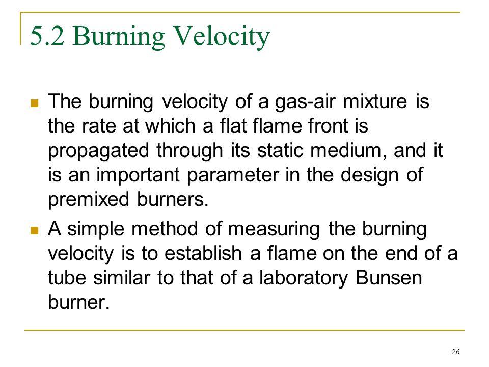 5.2 Burning Velocity