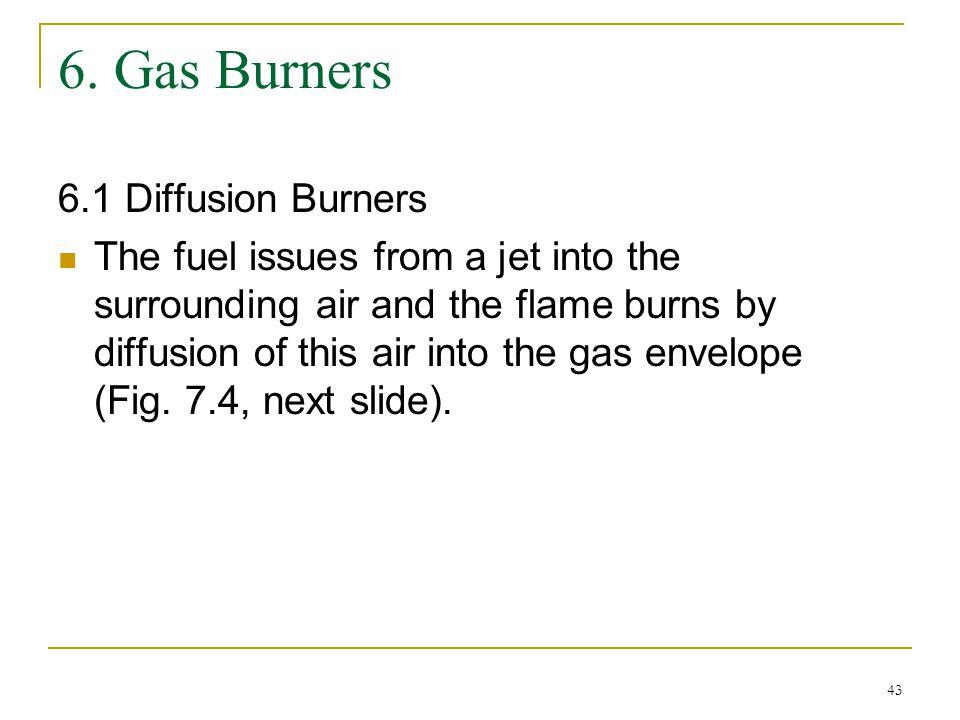 6. Gas Burners 6.1 Diffusion Burners