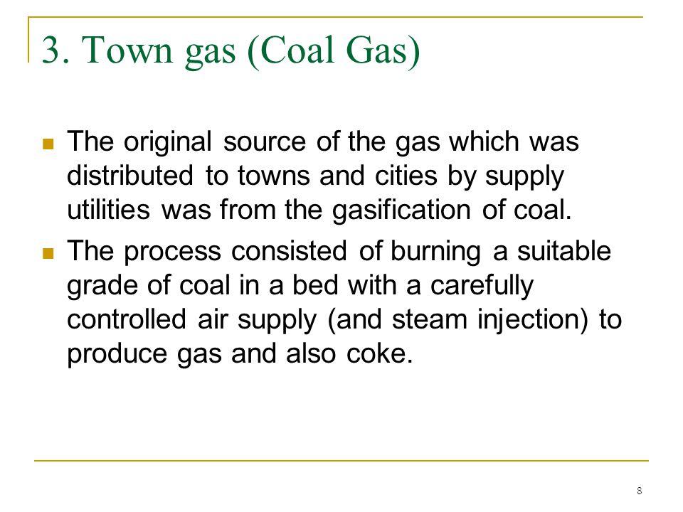 3. Town gas (Coal Gas)