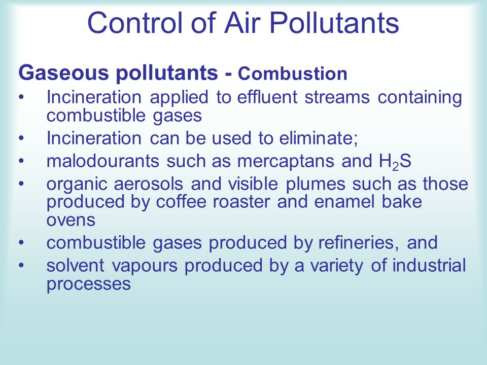 Control of Air Pollutants