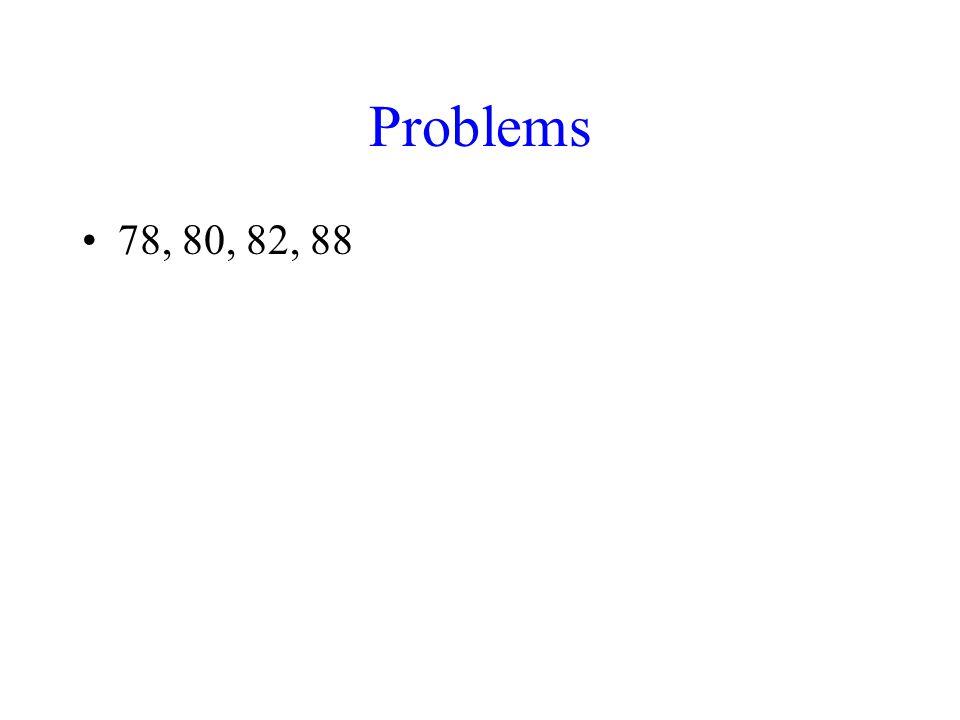 Problems 78, 80, 82, 88