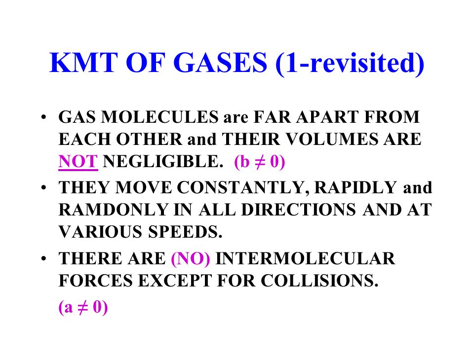 KMT OF GASES (1-revisited)