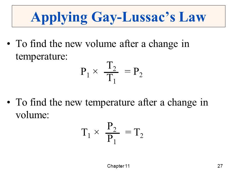 Applying Gay-Lussac's Law