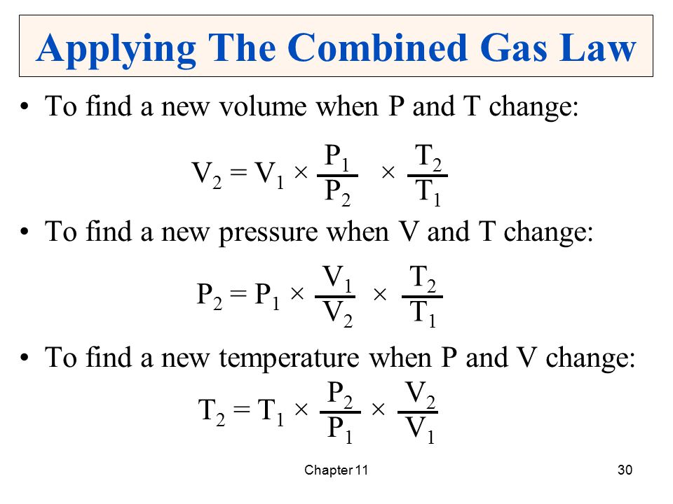 Applying The Combined Gas Law