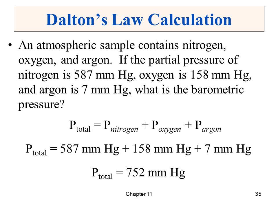 Dalton's Law Calculation