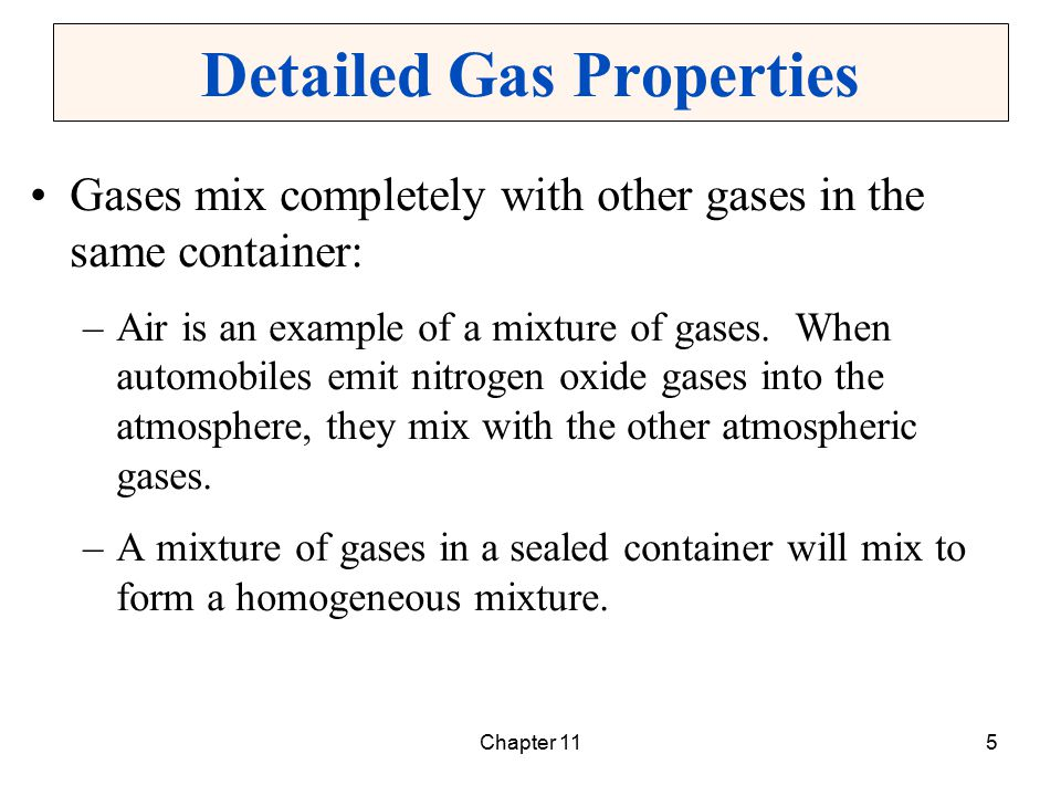 Detailed Gas Properties