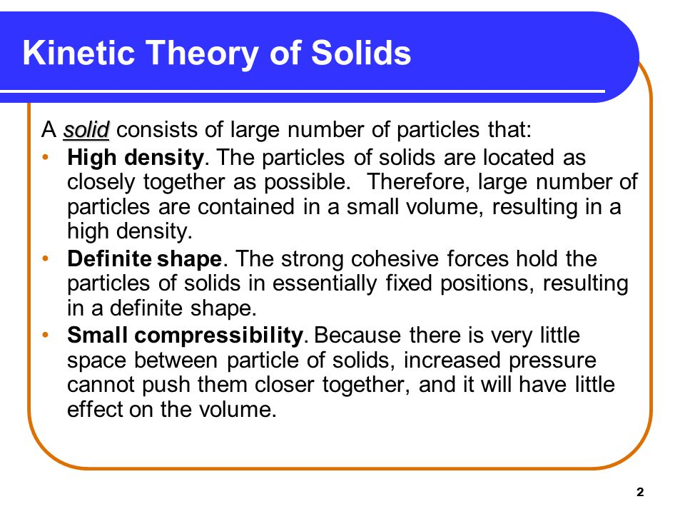 Kinetic Theory of Solids