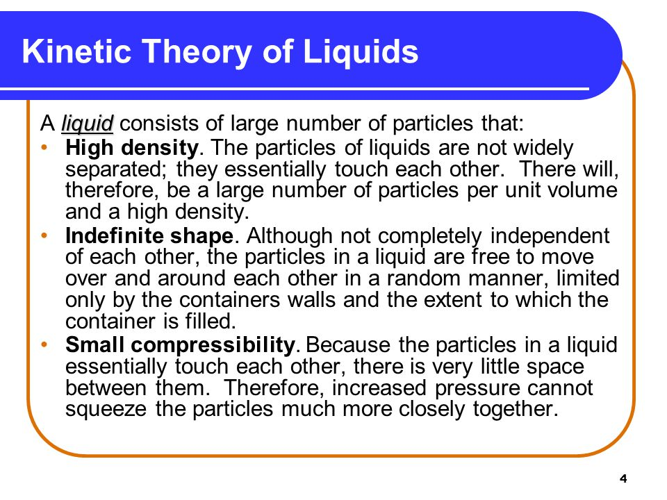Kinetic Theory of Liquids