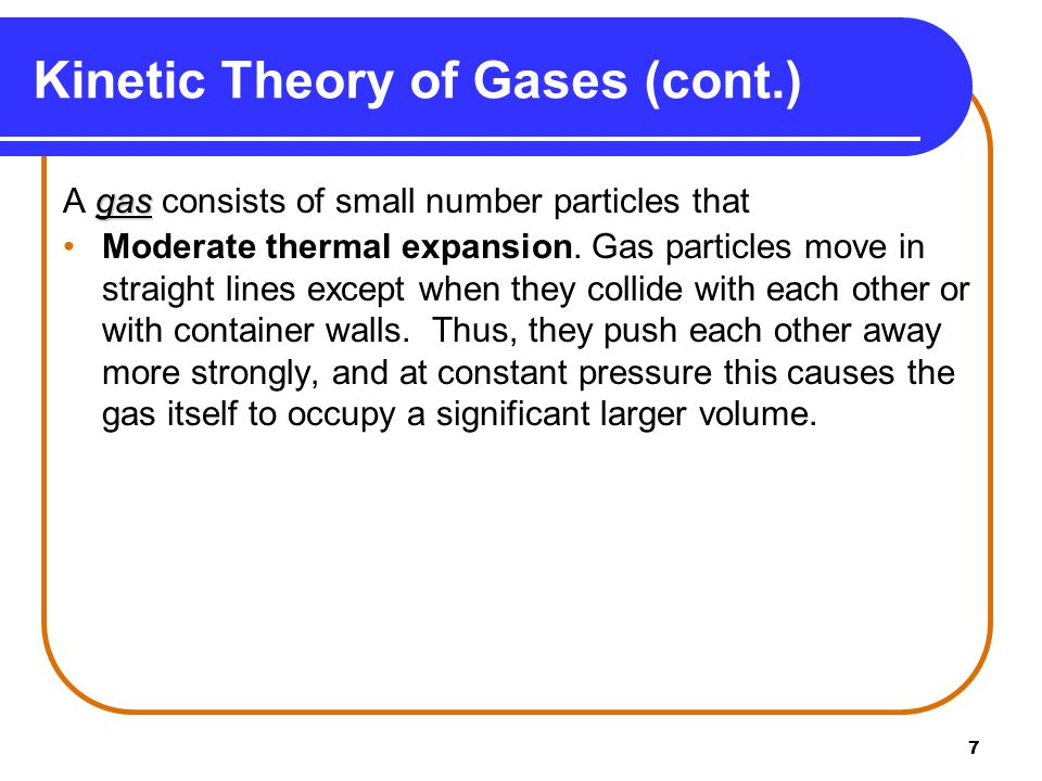 Kinetic Theory of Gases (cont.)