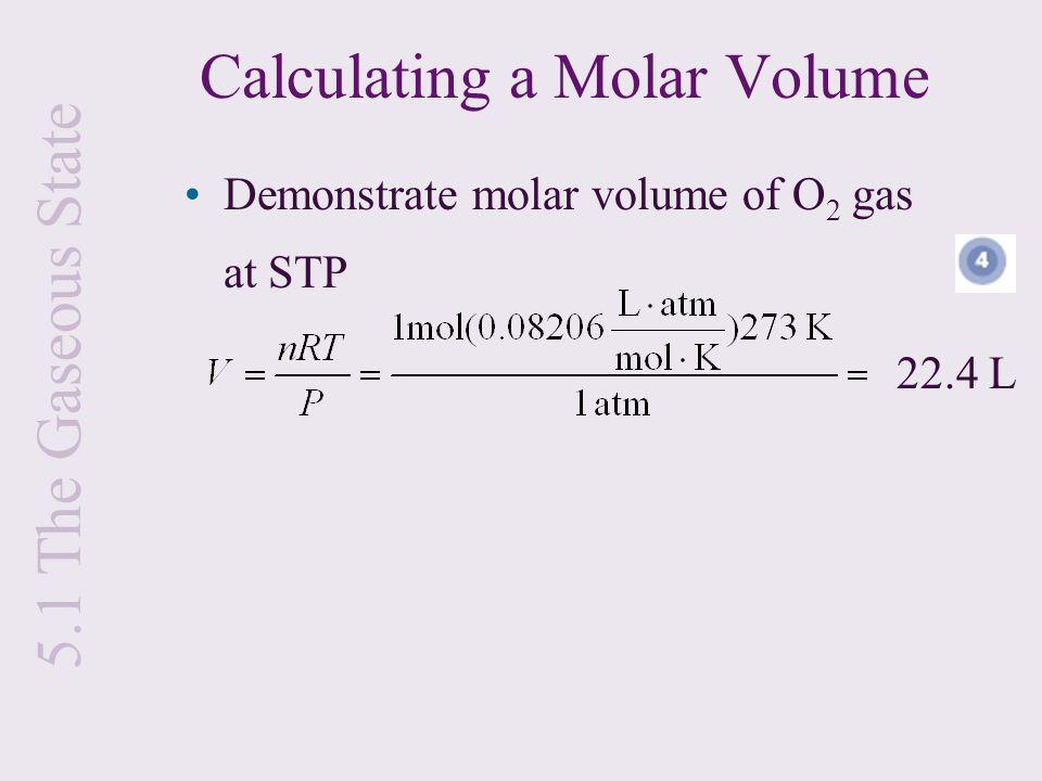 Calculating a Molar Volume