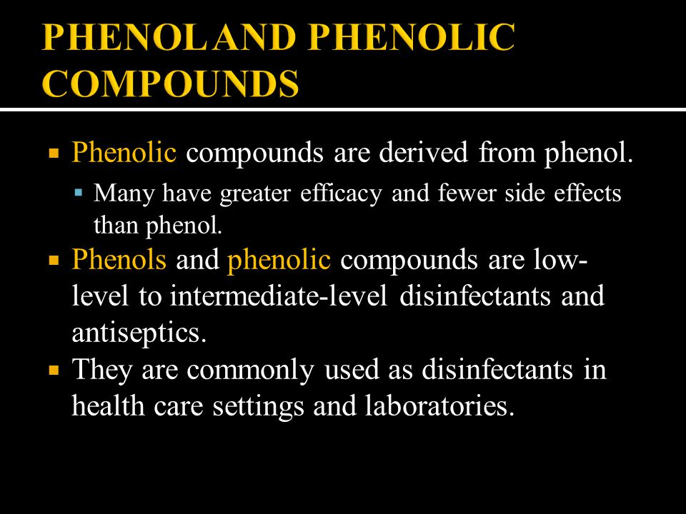 PHENOL AND PHENOLIC COMPOUNDS