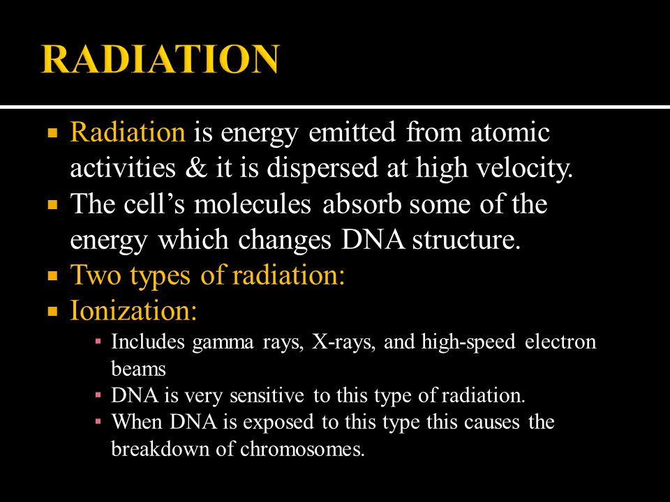 RADIATION Radiation is energy emitted from atomic activities & it is dispersed at high velocity.