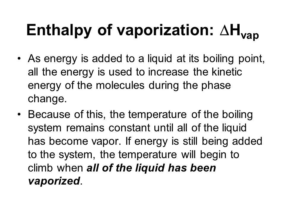 Enthalpy of vaporization: Hvap