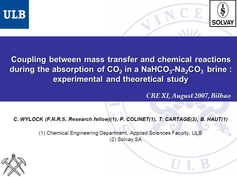 Coupling between mass transfer and chemical reactions during the absorption of CO2 in a NaHCO3-Na2CO3 brine : experimental and theoretical study