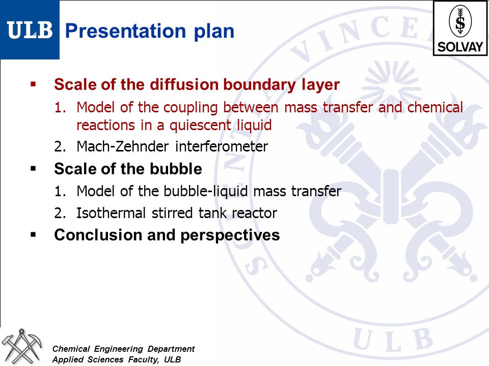 Presentation plan Scale of the diffusion boundary layer