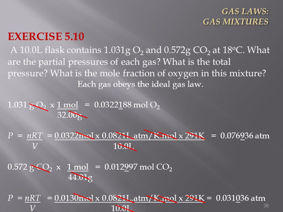 Each gas obeys the ideal gas law.