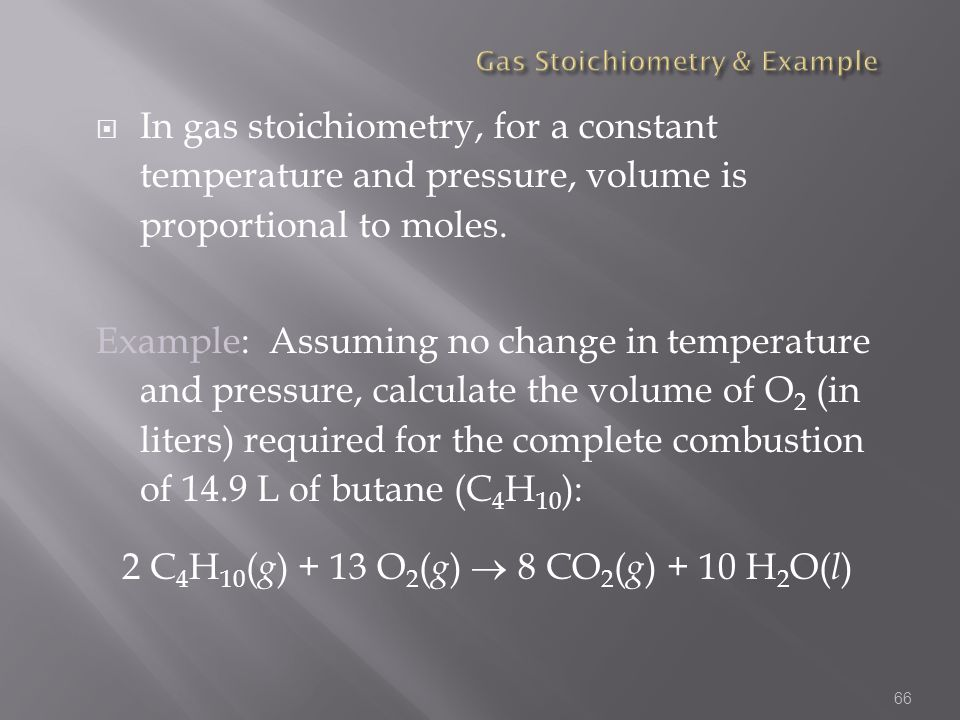 Gas Stoichiometry & Example
