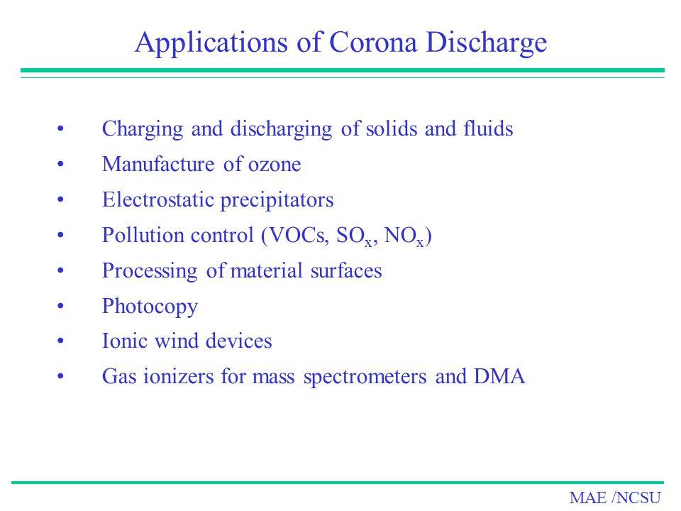 Applications of Corona Discharge