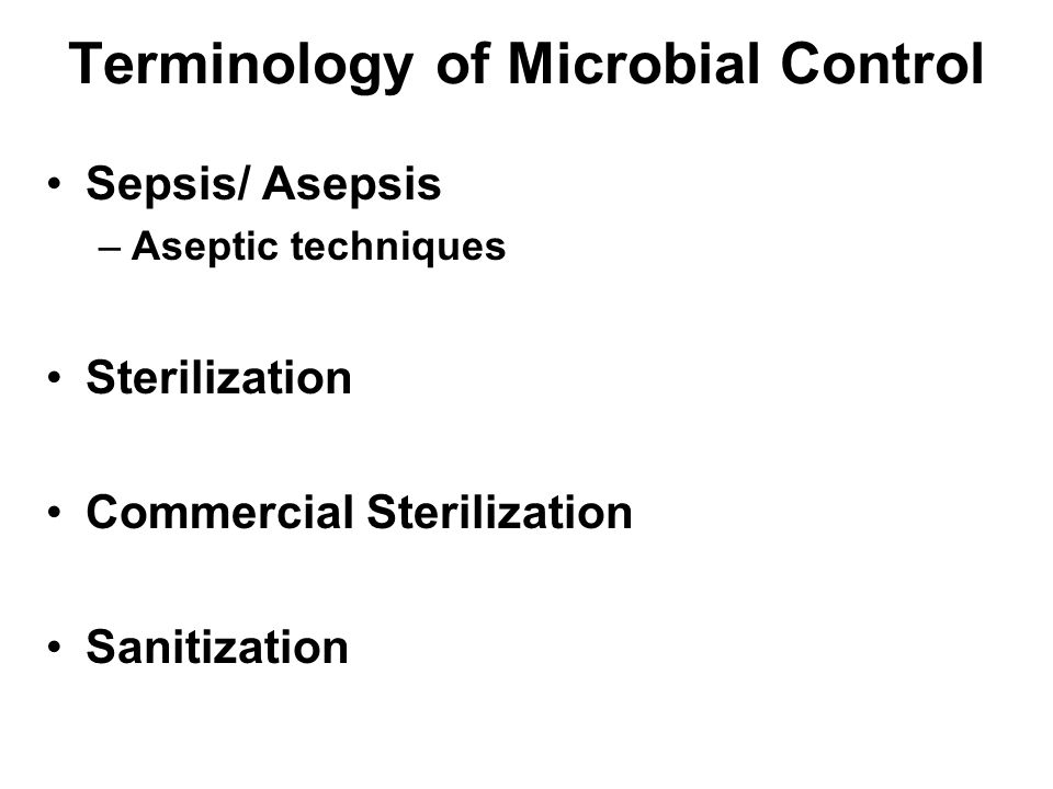 Terminology of Microbial Control