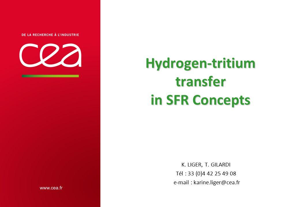 Hydrogen-tritium transfer in SFR Concepts