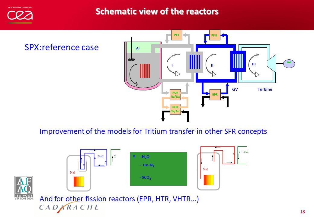 Schematic view of the reactors