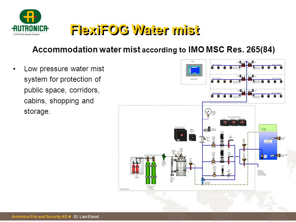 FlexiFOG Water mist Accommodation water mist according to IMO MSC Res. 265(84)