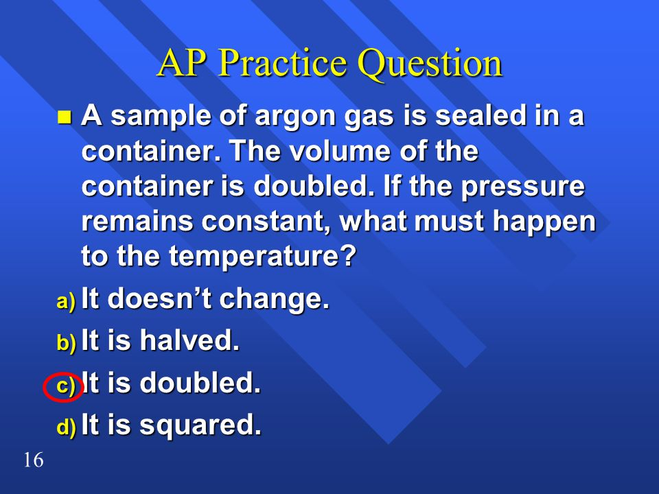 AP Practice Question