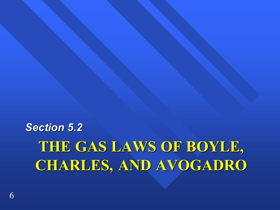 THE GAS LAWS OF BOYLE, CHARLES, AND AVOGADRO