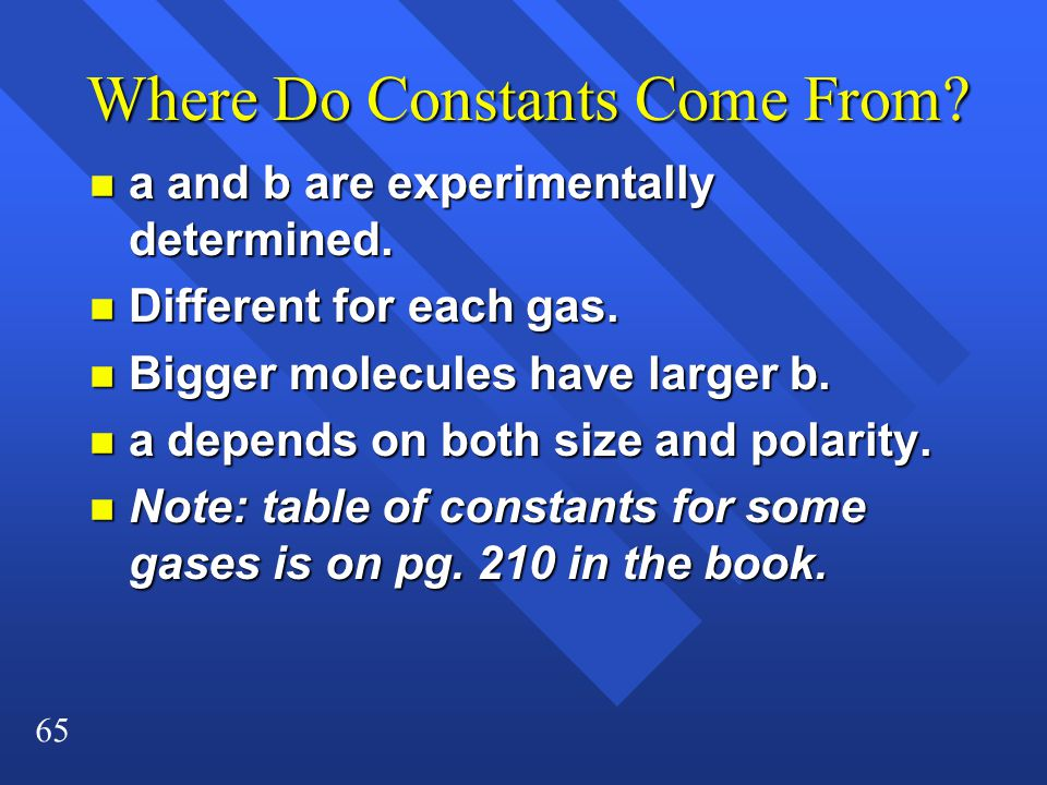 Where Do Constants Come From