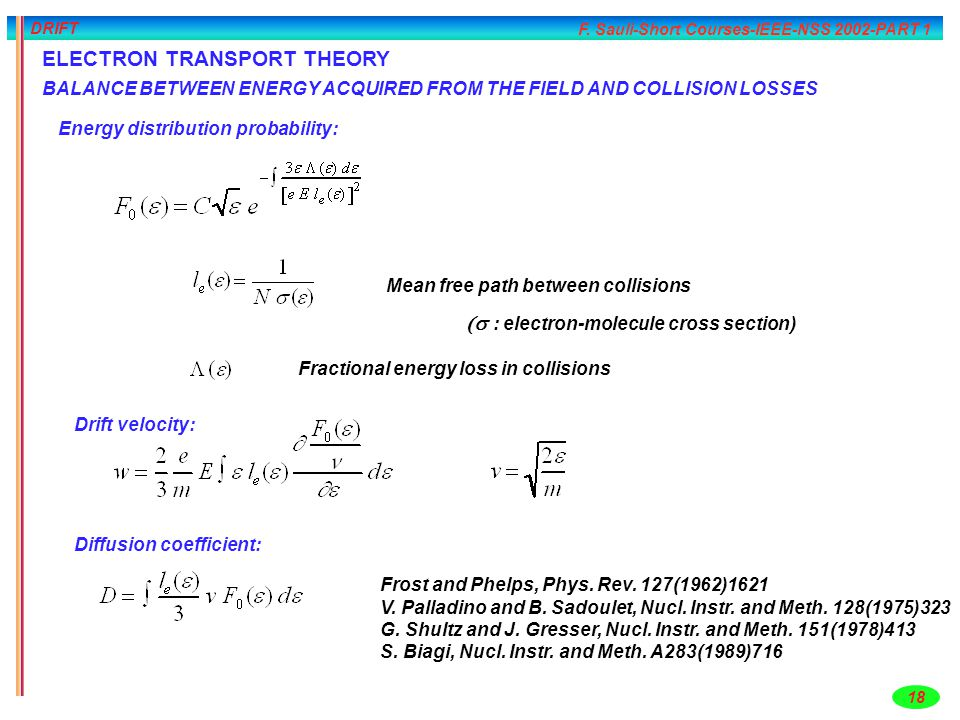 ELECTRON TRANSPORT THEORY