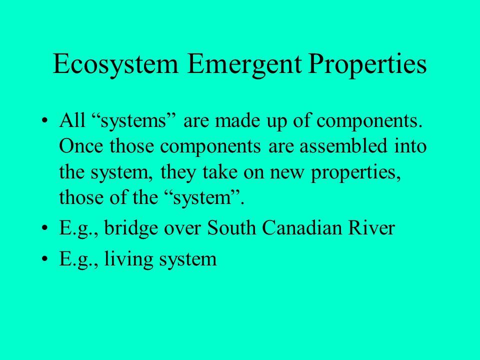 Ecosystem Emergent Properties