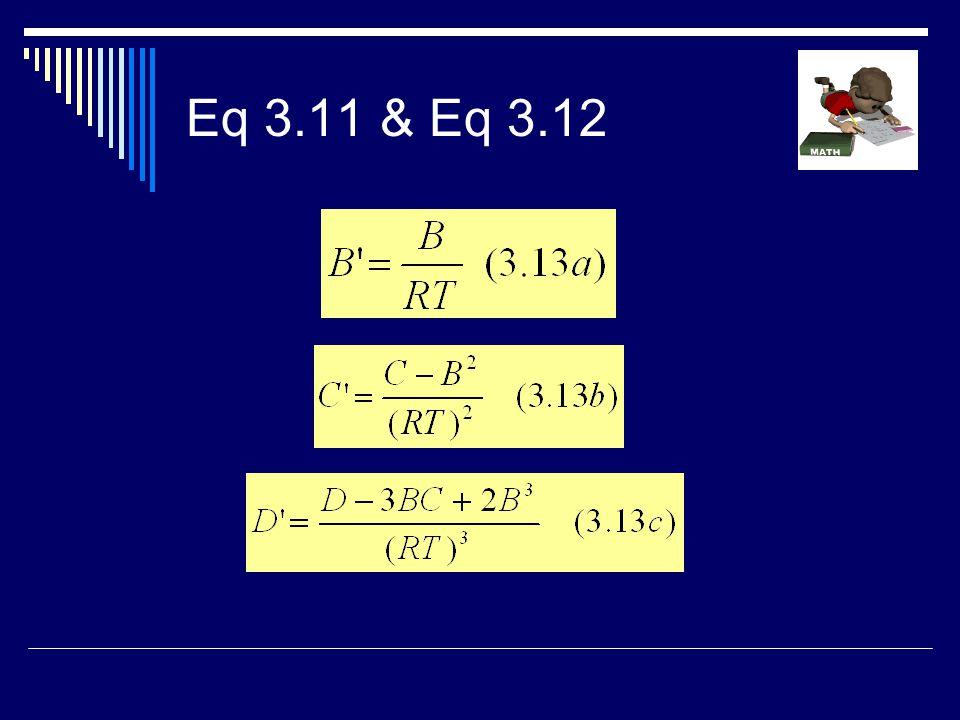 Eq 3.11 & Eq 3.12