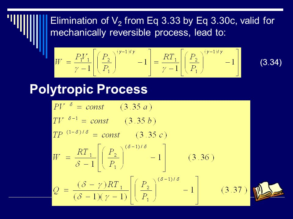 Elimination of V2 from Eq 3.33 by Eq 3.30c, valid for