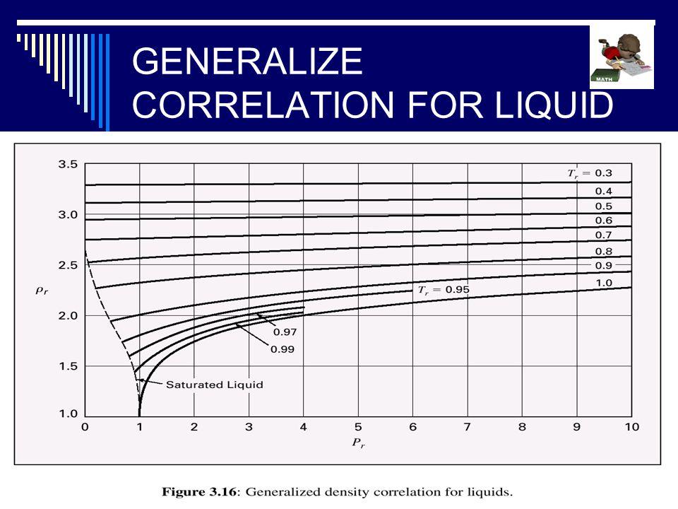 GENERALIZE CORRELATION FOR LIQUID