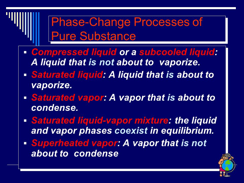 Phase-Change Processes of Pure Substance